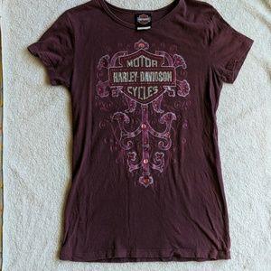Harley Davidson Rhinestone T-shirt